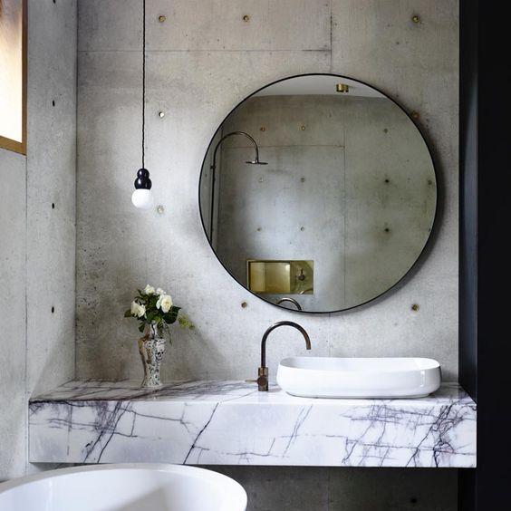 lavabo-marbre-miroir-rond