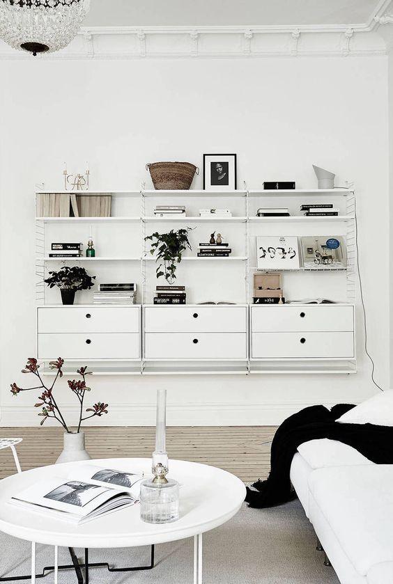 String System - living blanc
