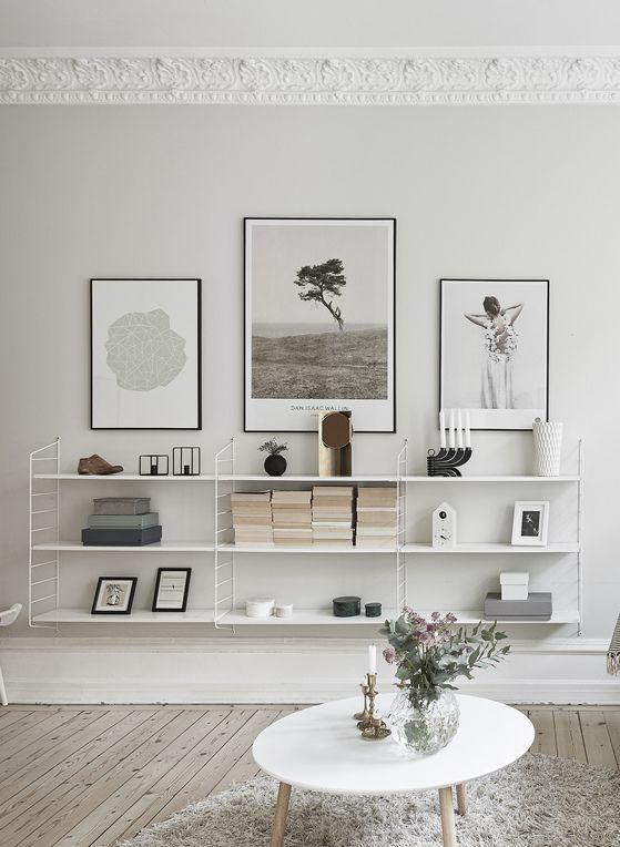 White String Shelves