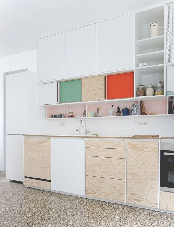 Multiplex plywood and colors kitchen