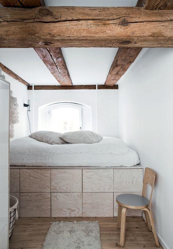 Chambre design multiplex et blanc