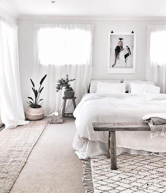 Chambre à coucher hygge minimaliste 5
