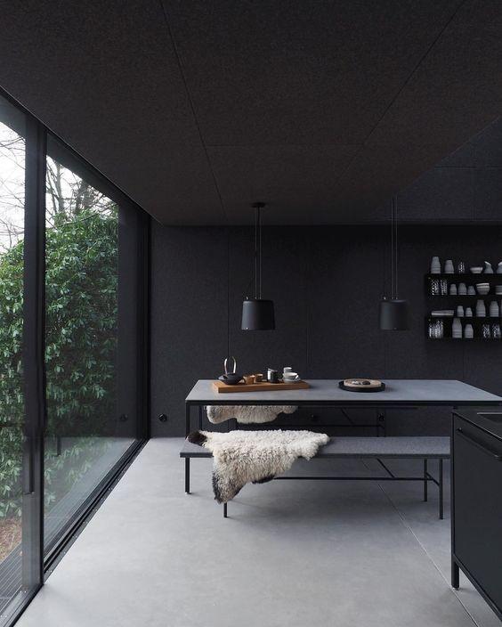 black diningroom