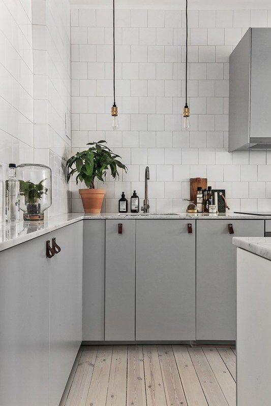 LM Interieur - cuisine grise et blanche