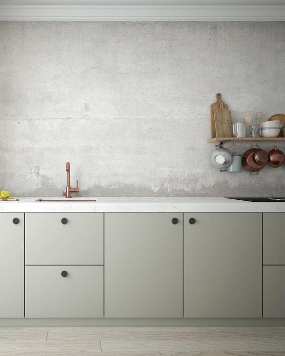 LM Interieur - cuisine gris vert