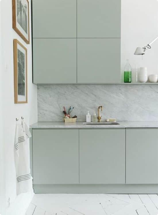 LM Interieur - cuisine menthe et marbre