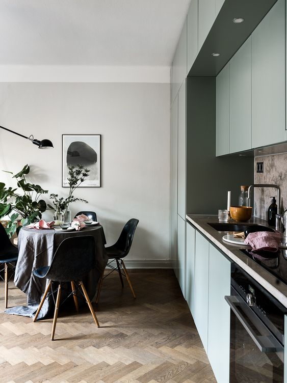 LM Interieur - cuisine dusty green