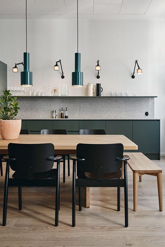 cuisine vert foncé - TDC- Studio Joanna Laajisto