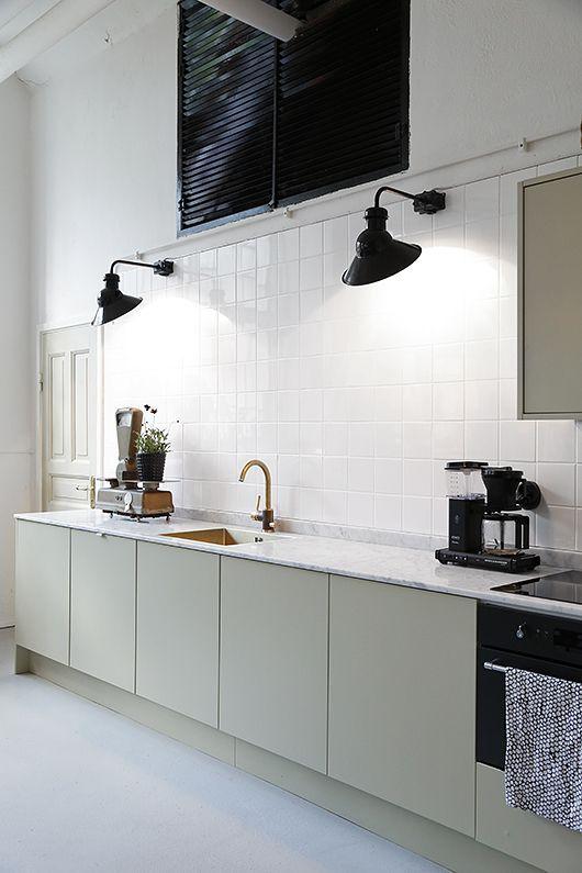 LM Interieur - mint-grey kitchen