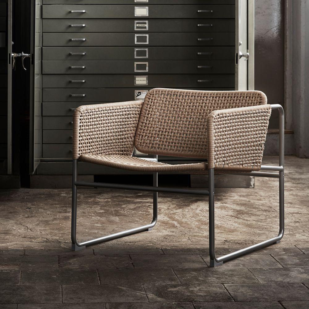 Ikea Industrielle fauteuil cannage