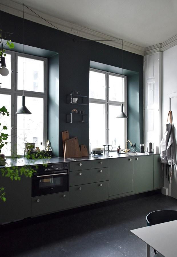ferm-living- cuisine vert foncé