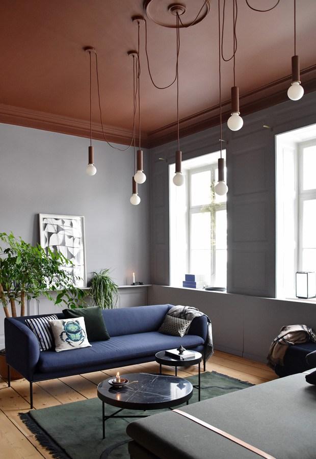 ferm living - salon terracotta et bleu