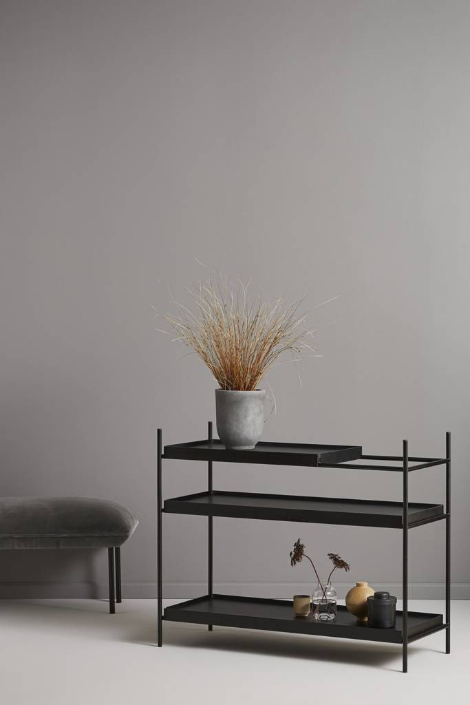 Woud - Tray shelf black