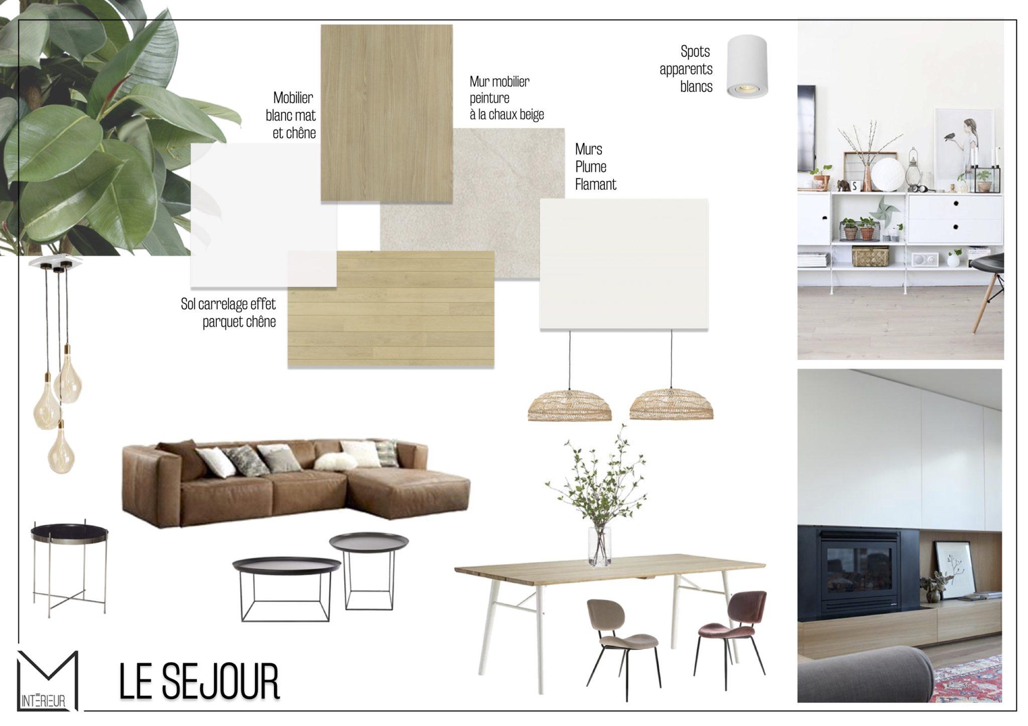 Projet S&G – Moodboard séjour