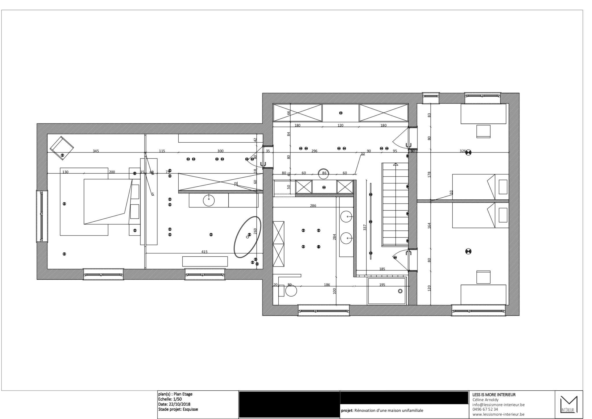 Projet S&G – plan étage