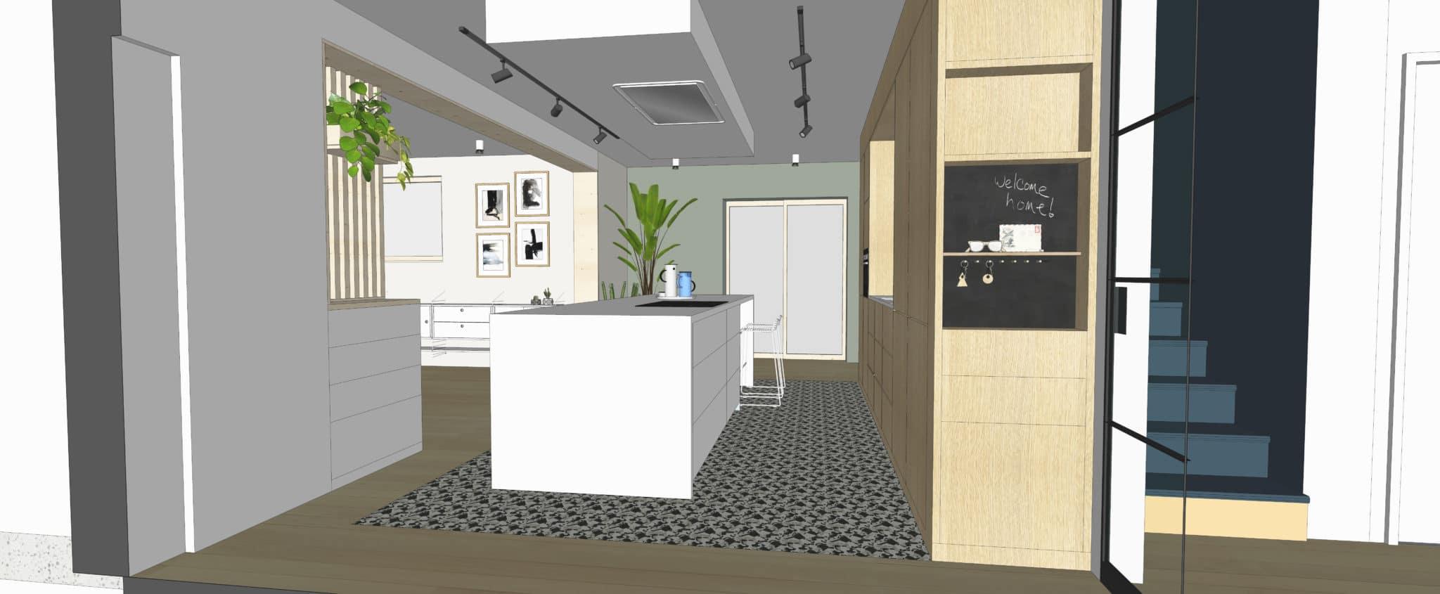 Projet S&G – dessin entrée cuisine