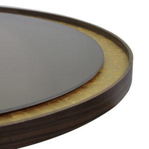 Notre Monde - Gold leaf mirror détail