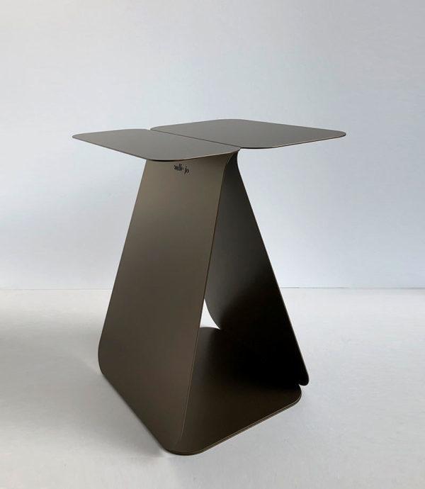table d'appoint asymétrique bronze