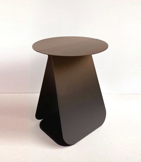 table d'appoint youmy ronde bronze