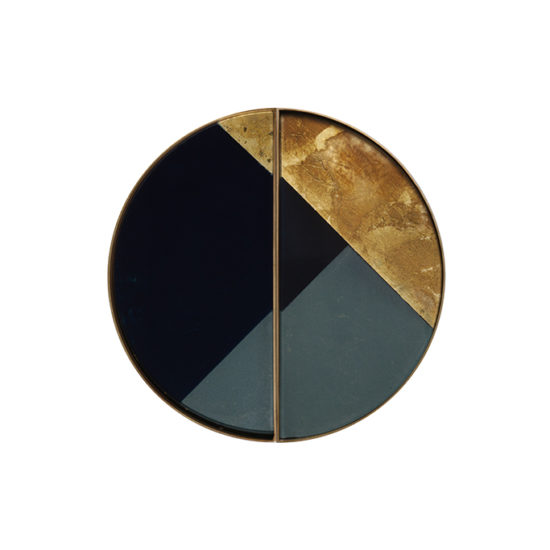 Ethnicraft accessories duo plateaux en verre geometric copie