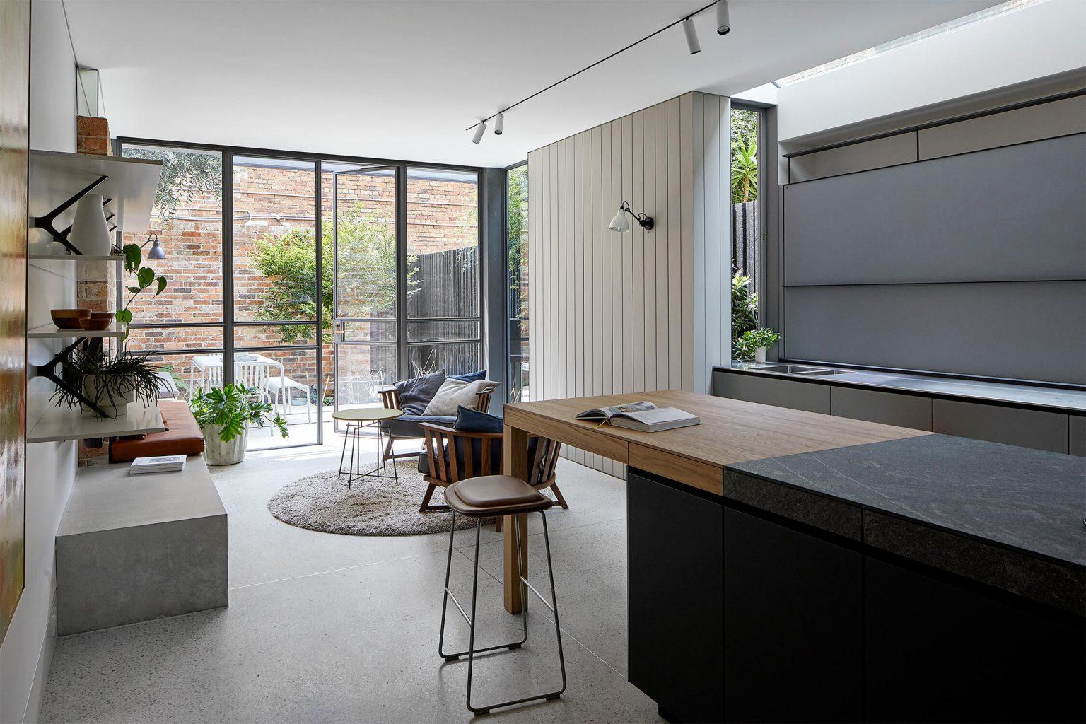 dream house tour south melbourne kitchen living