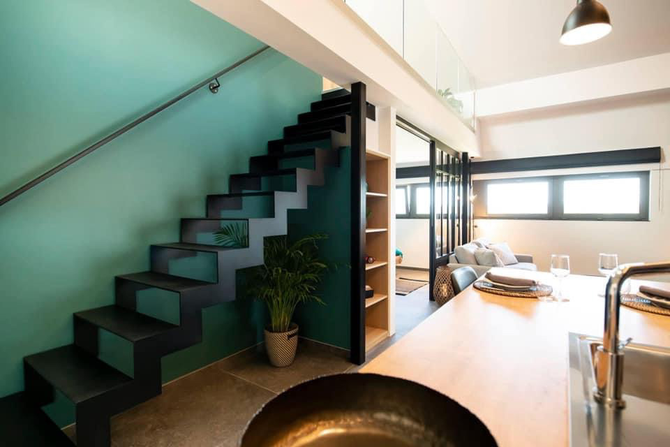 Loft Romain - escalier