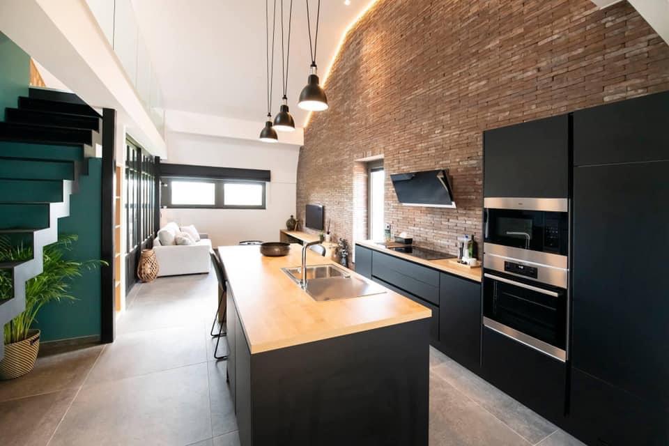 Loft Romain - cuisine