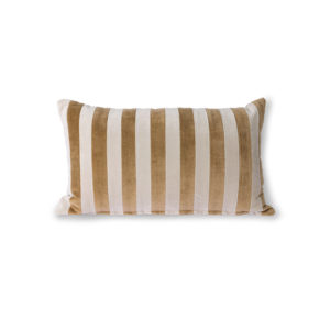 Coussin HKLiving velours moutarde