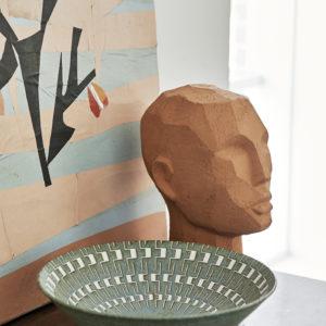 Sculpture tête abstraite HK Living