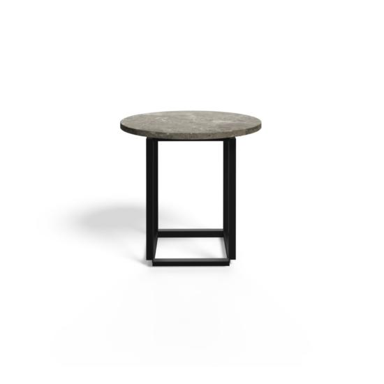 Florence Coffee table Ø50 cm Gris du Marais Front White Background 2021