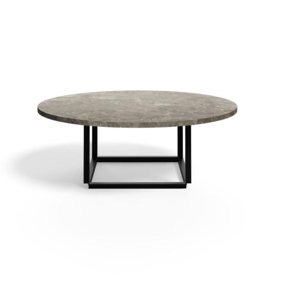 Table d'appoint en marbre Florence Coffee Table Ø90 - Gris du Marais