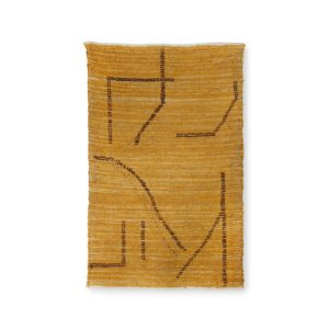 Tapis-coton-fait-mains-ocre-brun-hk-living