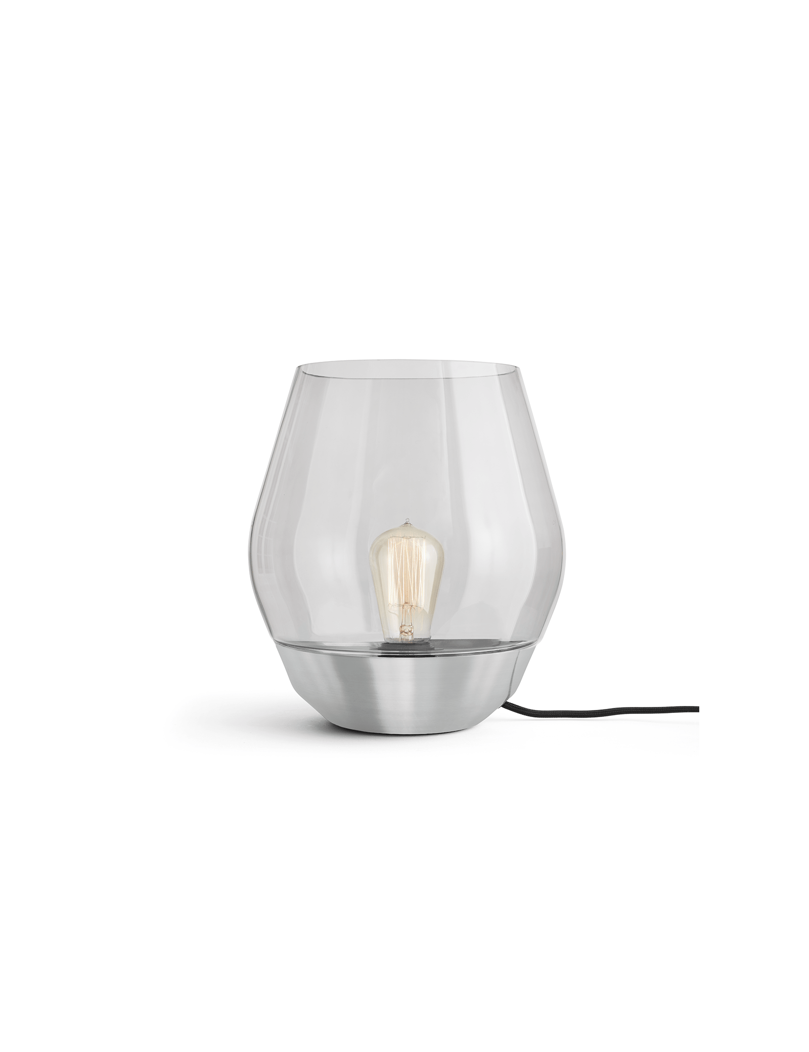 Bowl Table Lamp Stainless Steel White