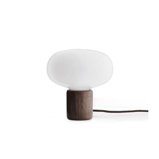 Karl-Johan Table Lamp Opal White Glass, Smoked Oak-White Background