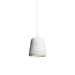 Material Pendant White Marble White Background