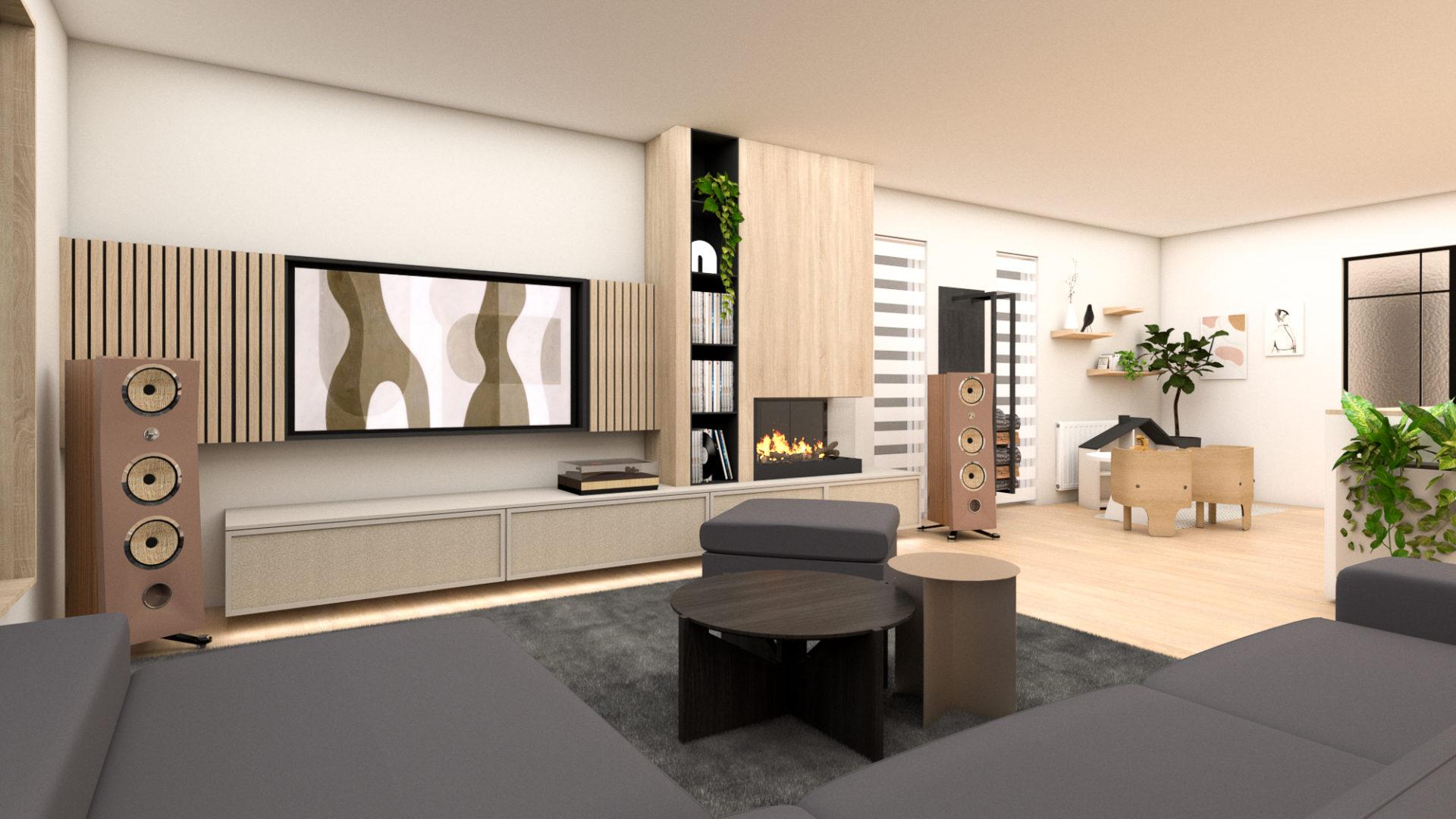 Architecture d'interieur Spa - rendu salon